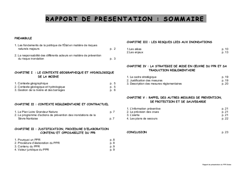 Rapport de présentation du PPRI de la Moine - application/pdf