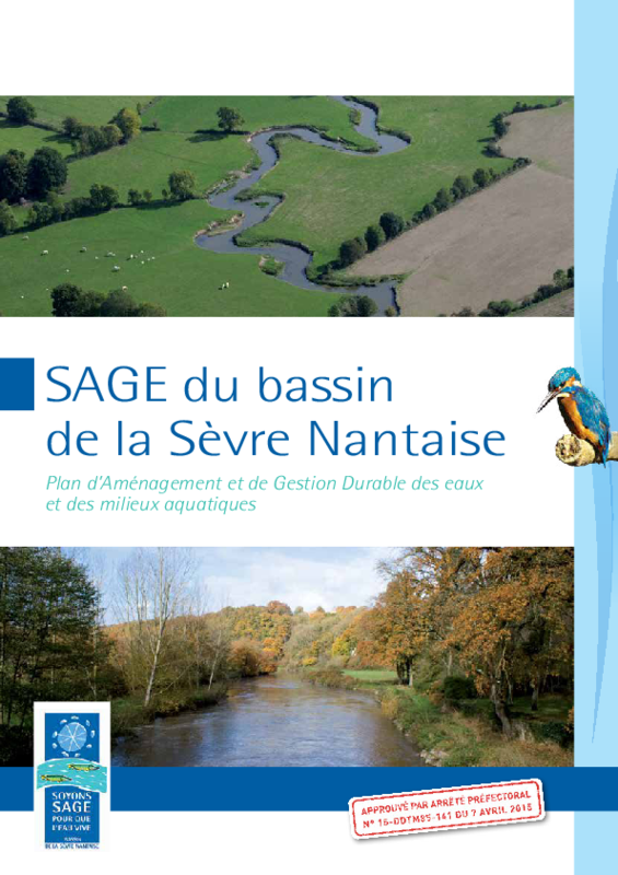 SAGE du basin de la Sèvre Nantaise. Plan d'Aménagement et de Gestion Durable des eaux et des milieux aquatiques - application/pdf