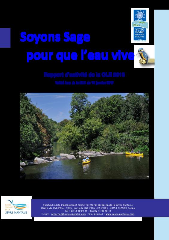 Rapport d'activité 2016 de la Commission Locale de l'Eau (CLE)  - application/pdf