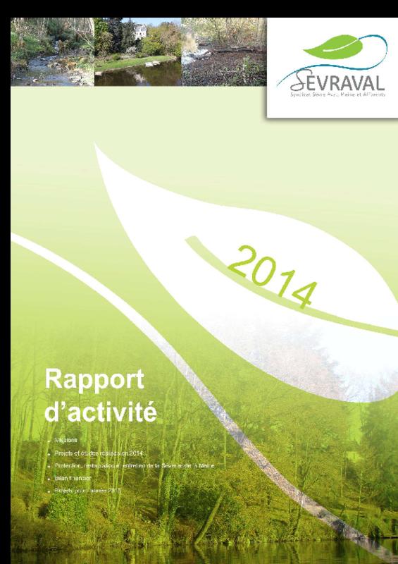 Rapport d'activité de SEVRAVAL 2014 - application/pdf