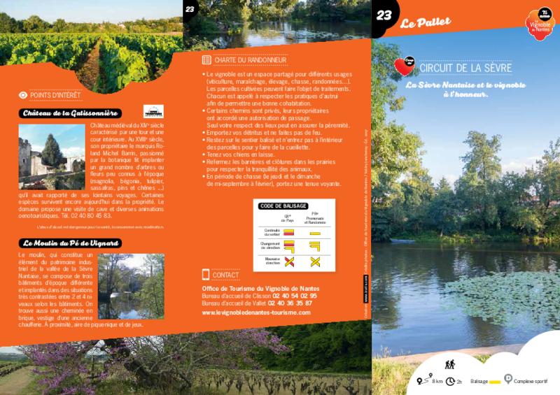 """Rando-guide n°23 """"Circuit de la Sèvre"""" - Le Pallet - application/pdf"""