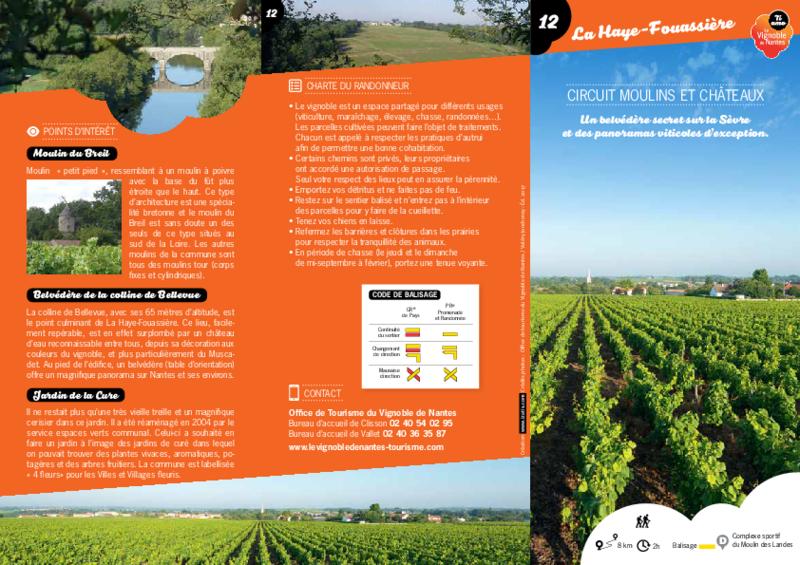 """Rando-guide n° 12 """"Circuit Moulins et Châteaux"""" - La Haye-Fouassière - application/pdf"""
