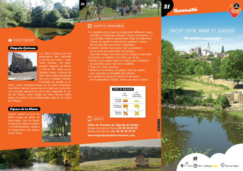 "Rando-guide n° 31 ""Circuit entre Maine et Gorgeat"" - Remouillé (44) - application/pdf"