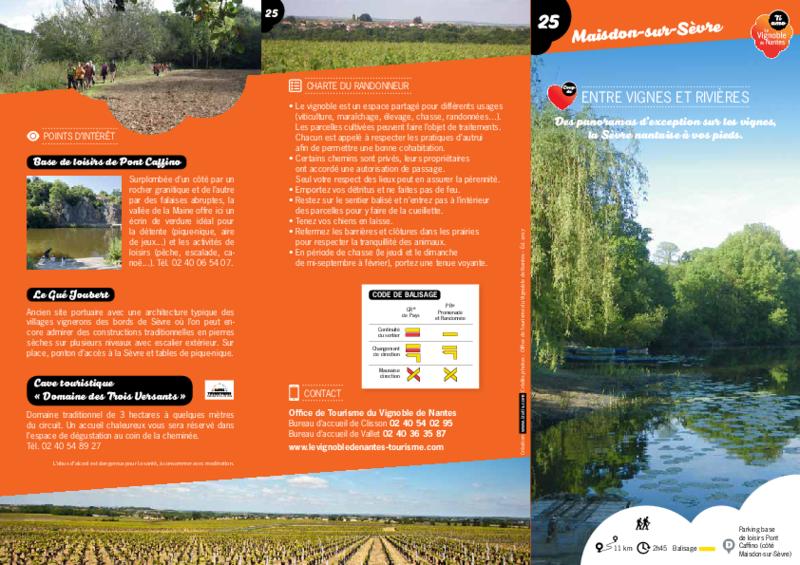"""Rando-guide n° 25 """"Entre vignes et rivières"""" - Maisdon-sur-Sèvre - application/pdf"""