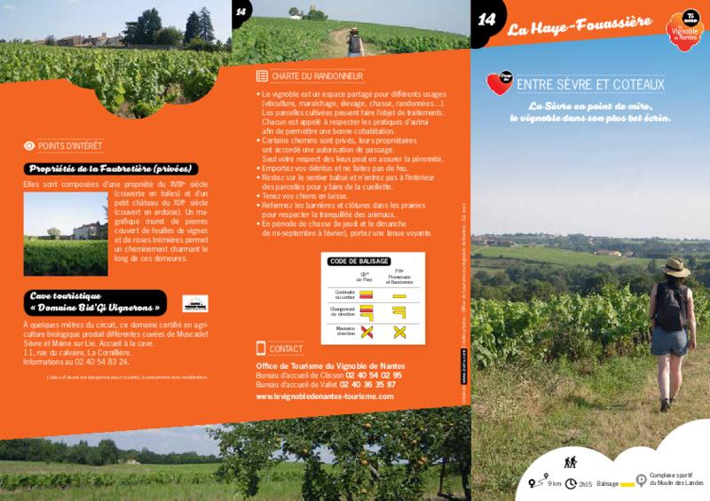 """Rando-guide n° 14 """"Entre Sèvre et Coteaux"""" - La Haye-Fouassière - application/pdf"""