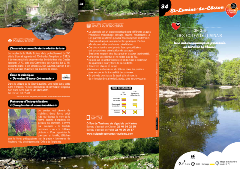"Rando-guide n° 34 ""Circuit des Coteaux Luminais"" - Saint-Lumine-de-Clisson - application/pdf"