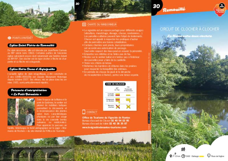 """Rando-guide n° 30 """"Circuit de clocher à clocher"""" - Remouillé - application/pdf"""