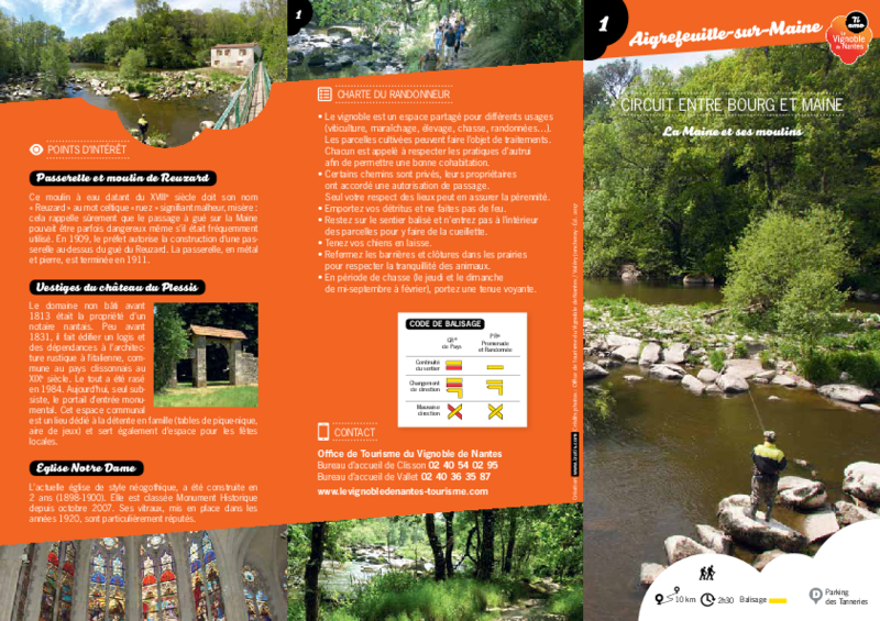 "Rando-guide n° 1 ""Circuit entre bourg et Maine"" - Agrefeuille-sur-Maine - application/pdf"