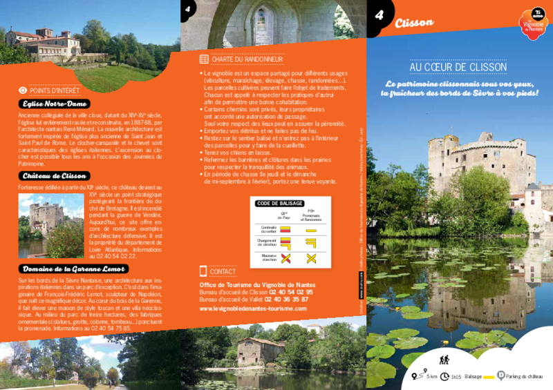 "Rando-guide n° 4 ""Au coeur de Clisson"" - Clisson - application/pdf"