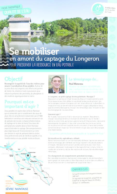 Se mobiliser en amont du captage du Longeron pour préserver la ressource en eau potable : Fiche thématique - application/pdf