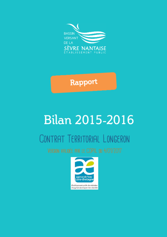 Bilan 2015-2016 du contrat territorial Longeron - application/pdf