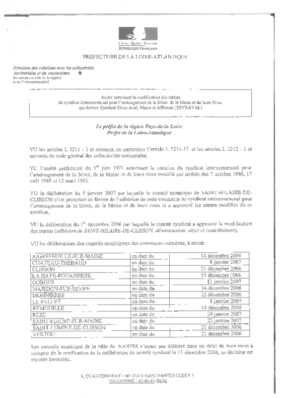 Statuts du syndicat SEVRAVAL - application/pdf