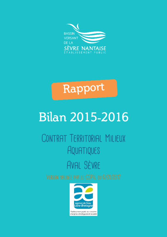 Bilan 2015-2016 du contrat territorial aval Sèvre - application/pdf