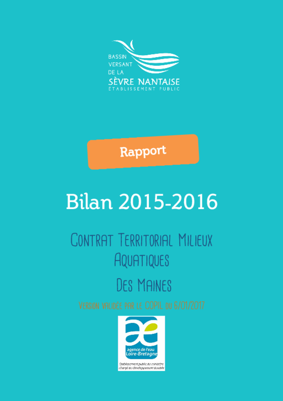 Bilan 2015-2016 du contrat territorial des Maines - application/pdf