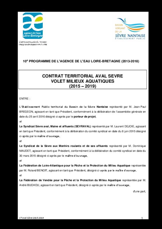 Contrat territorial milieux aquatique aval Sèvre - application/pdf