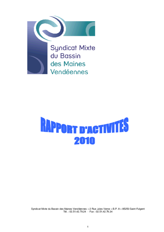 Rapport d'activité 2010 du SMBV - application/pdf