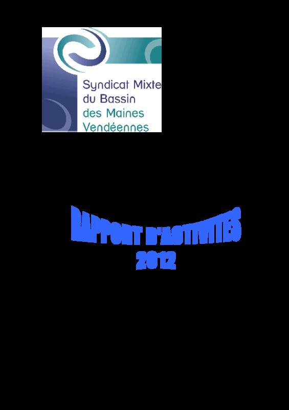 Rapport d'activité 2012 du SMBV - application/pdf