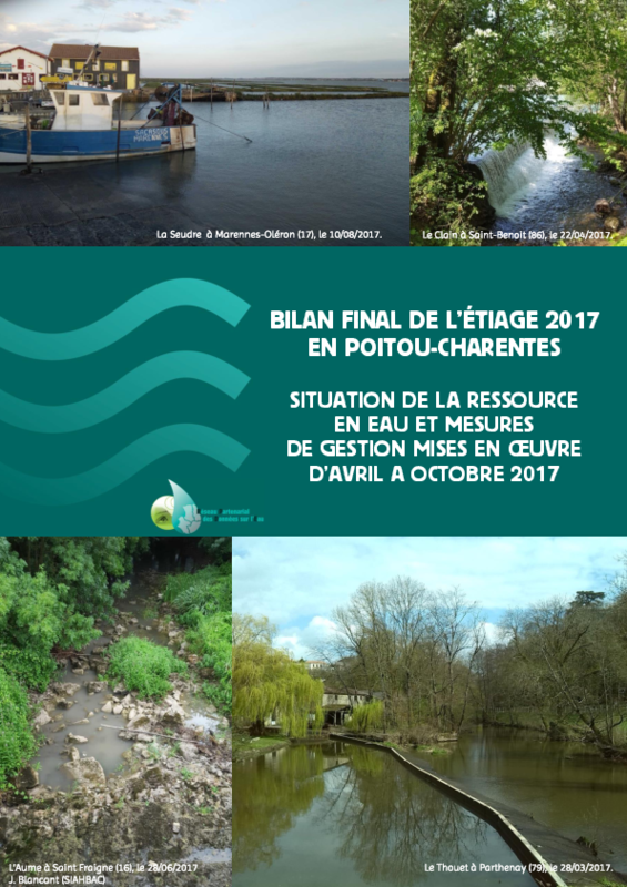 Bilan final de l'étiage 2017 en Poitou-Charentes - application/pdf