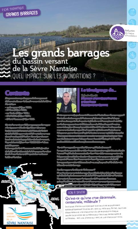 """Fiche thématique : """"Les grands barrages du bassin versant de la Sèvre Nantaise : Quel impcat sur les inondations ? - application/pdf"""