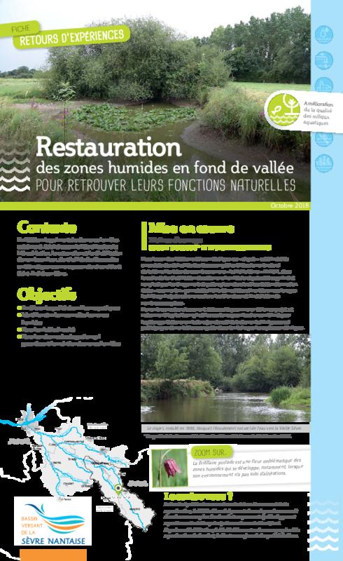 Restauration des zones humides en fond de vallée pour retrouver leurs fonctions naturelles / E.P.T.B Sèvre Nantaise - application/pdf