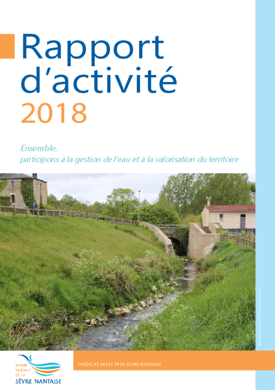 Rapport d'activité 2018 de l'EPTB Sèvre Nantaise - application/pdf