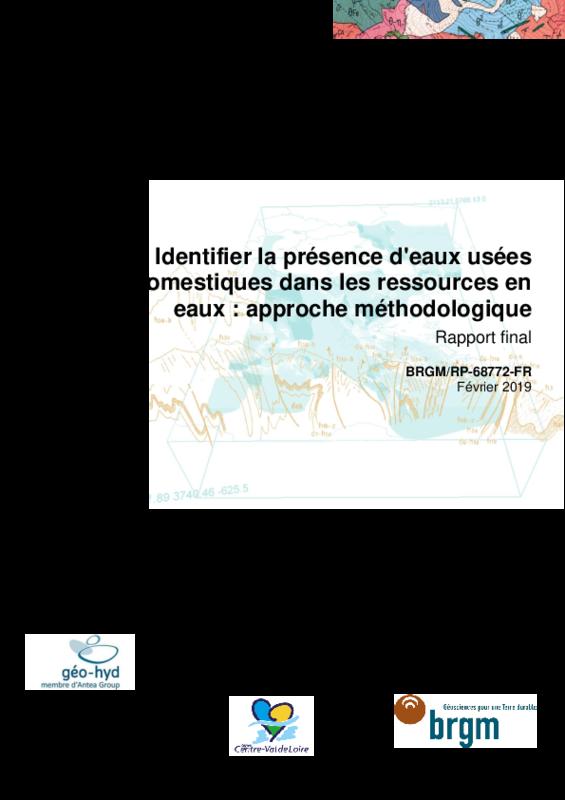 """Rapport final : """"Identifier la présence d'eaux usées domestiques dans les ressources en eaux : approche méthodologique""""' - application/pdf"""