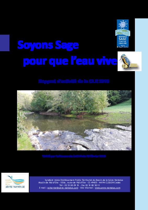 Rapport d'activité 2019 de la Commission Locale de l'Eau (CLE) - application/pdf