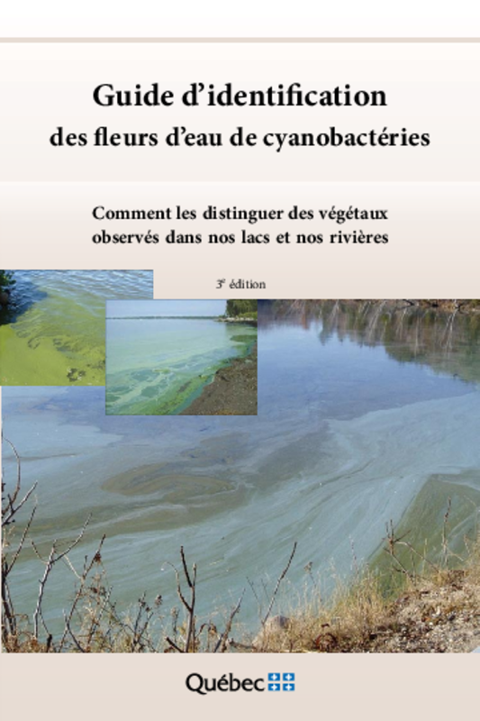 Guide d'identification des fleurs d'eau de cyanobactéries (3ème édition) : Comment les distinguer des végétaux observés dans nos lacs et rivières - application/pdf
